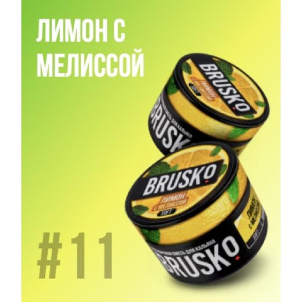 Бестабачная смесь для кальяна Brusko Strong - Лимон с мелиссой