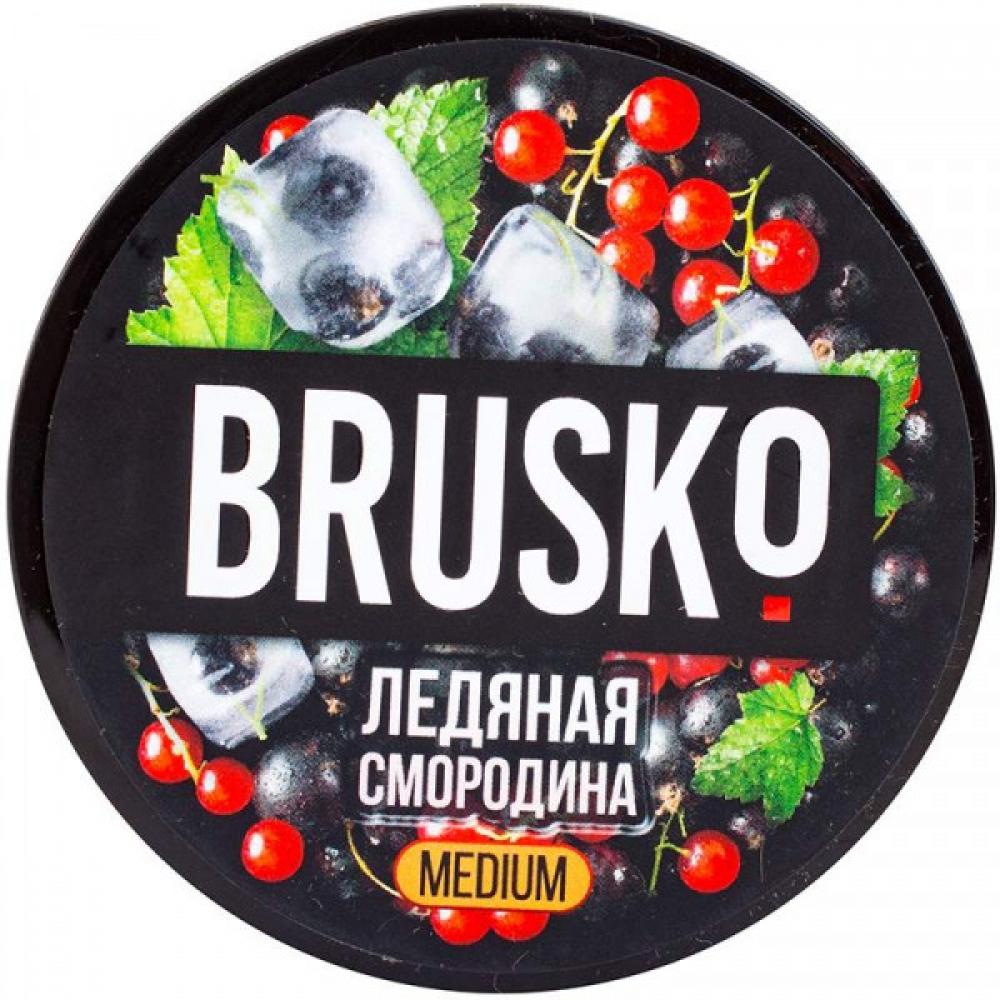Бестабачная смесь для кальяна Brusko Strong - Ледяная смородина