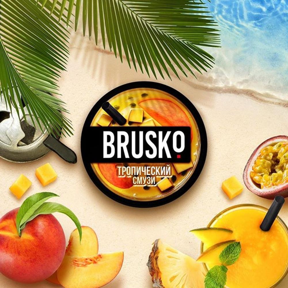 Бестабачная смесь для кальяна Brusko Strong - Тропический смузи