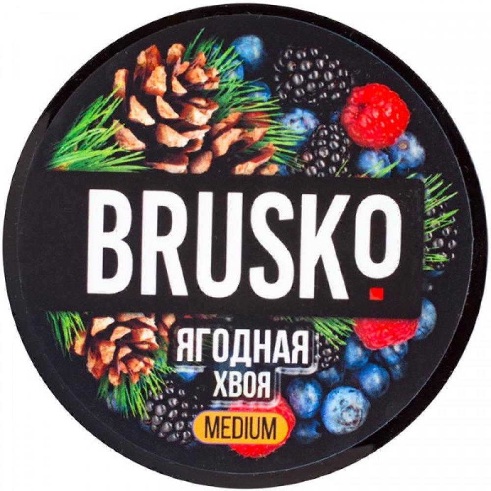 Бестабачная смесь для кальяна Brusko Strong - Ягодная хвоя