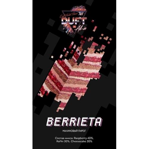 Табак для кальяна Duft All-In- Berrieta (Малиновый пирог)