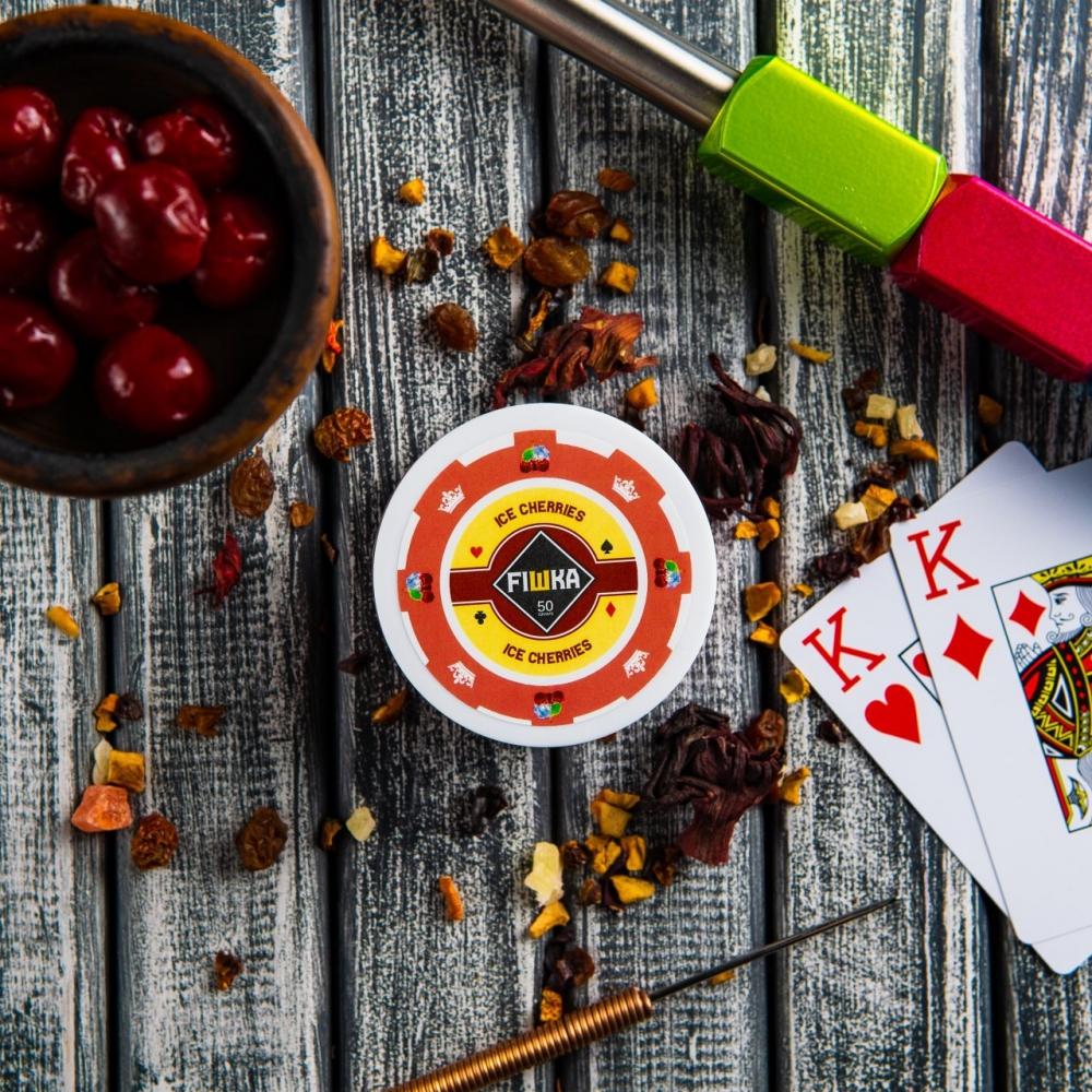 Бестабачная смесь FIШКА - Ice Cherries (Ледяная вишня)