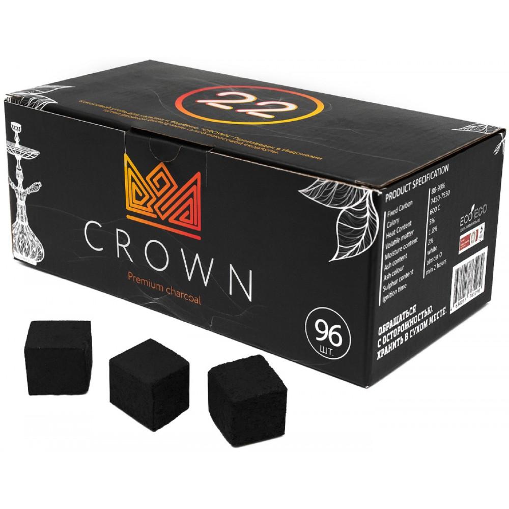Уголь для кальяна CROWN 96 шт