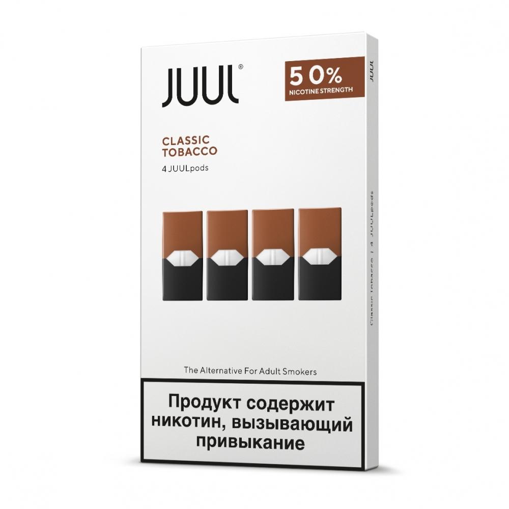 Картриджи Juul (Джул) - Classic Tobacco (4)