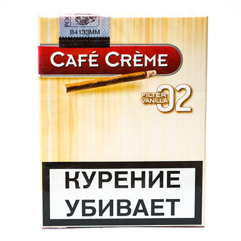 Сигариллы Cafe Creme Vanilla Filter 02
